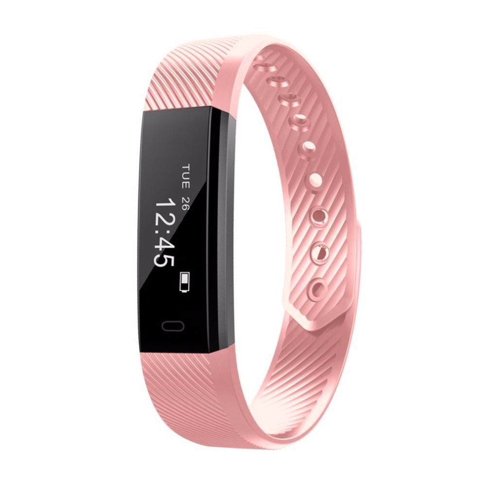 HOT ID115 Smart Wristband Bluetooth 4.0 Fitness Tracker Heart Rate Watch Step Counter Sleep Monitor Sport Smart Bracelet Band