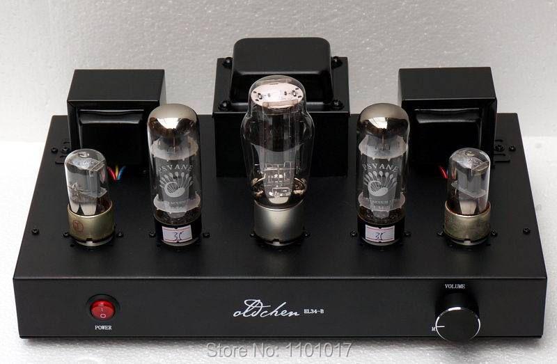 LaoChen EL34 amplificateur à tubes HIFI EXQUIS Aiqin Single-ended Classe A main Amplificateur Noir Version OC34 Oldchen