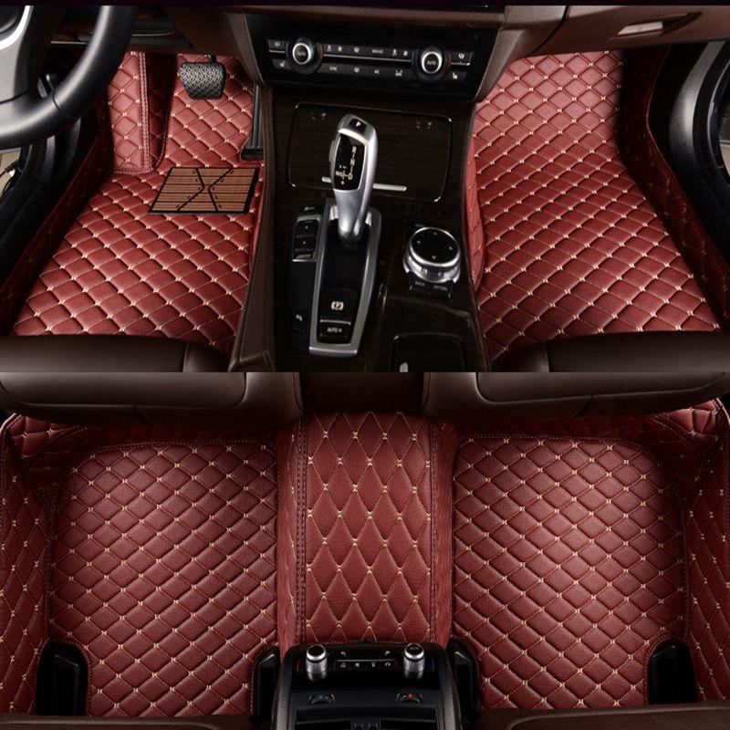 -Matte leder auto boden matten für Cadillac SLS ATSL CTS XTS SRX CT6 ATS Escalade auto zubehör auto styling nach auto matte