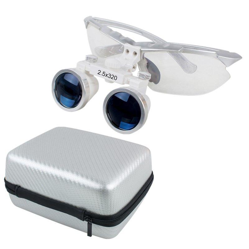 2.5x320mm dentiste dentaire chirurgical médical Loupes binoculaires Loupe en verre optique