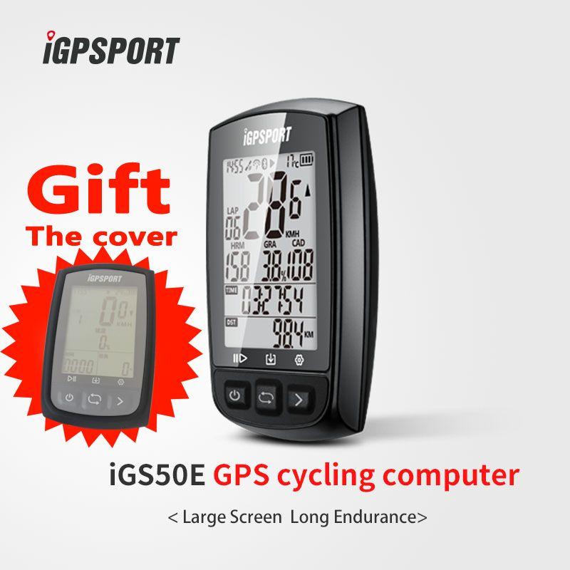 IGPSPORT Besten Konkurrenzfähigen gps zyklus computer iGS50E praktikable mit speed cadence, herz rate