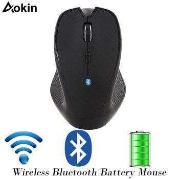 Aokin Bluetooth 2.4Ghz Wireless Mouse 4.0+3.0 Adjust Optical Mouse 1600 DPI 6 Buttons Ergonomic Gaming Mouse For Laptop Tablet
