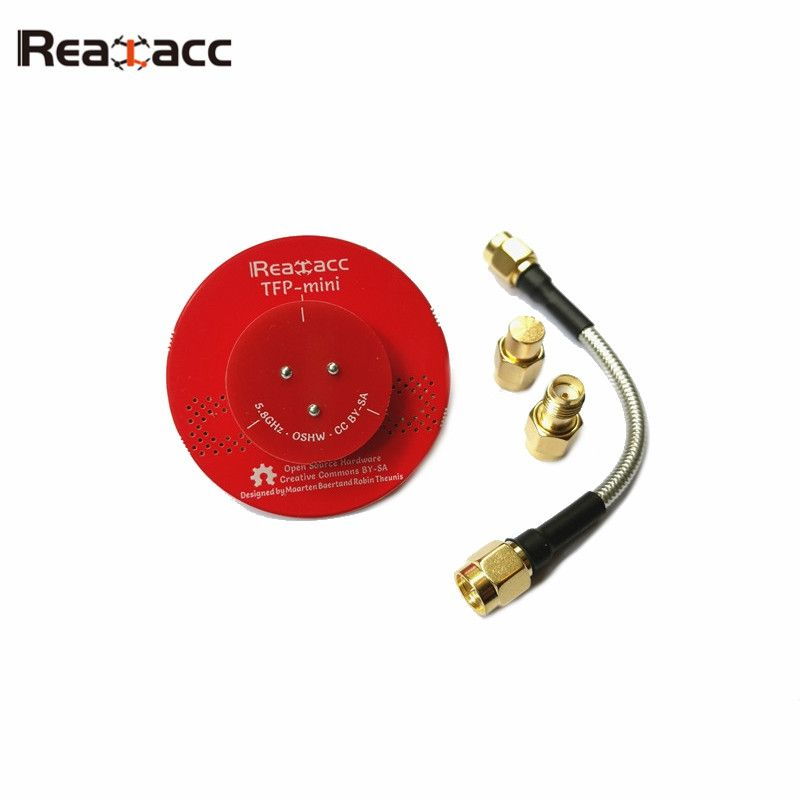 Hot New Realacc TFP-Mini Triple Feed Patch Dia. 45mm 5.8G 8dBi FPV Flat Panel Pagoda Antenna With Terminator For RC Multicopter