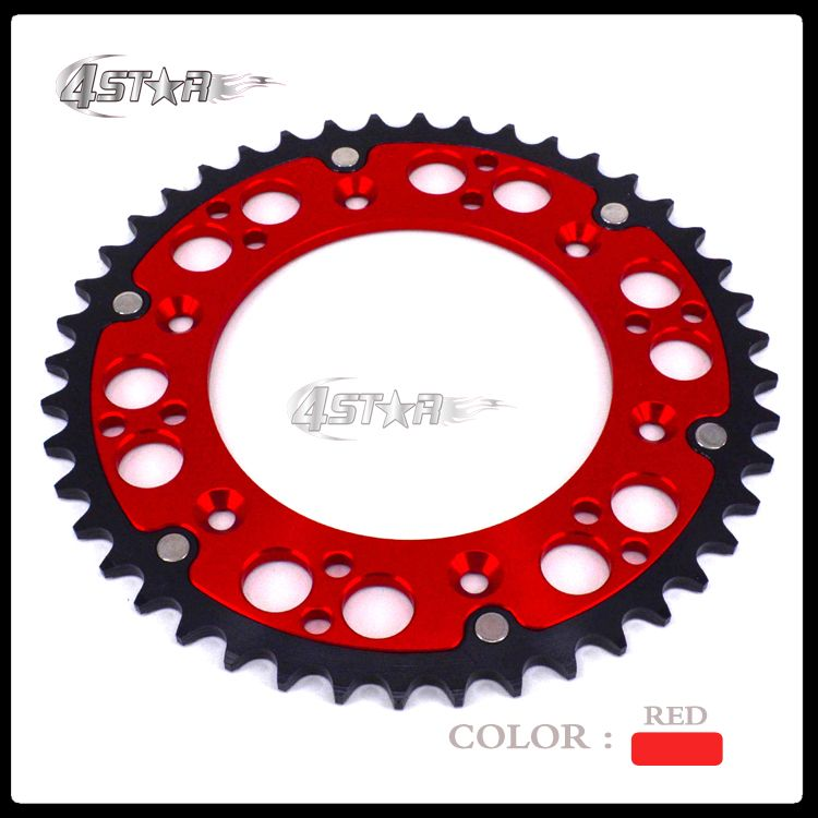 48T CNC Rear Chain Sprocket Steel and Aluminum For CRF150F CR250R CRF250R XR250R CRF450R XR650R XL250 Dirt Bike Motocross Enduro