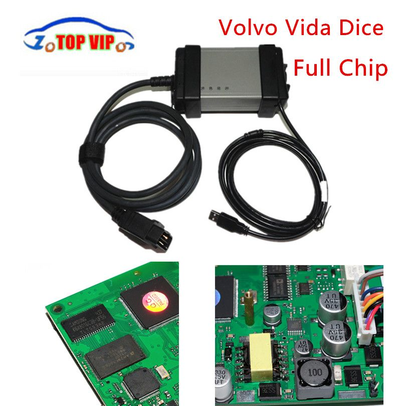 Hot Selling Full Chip 2014D Vida Dice Dice Pro A+Quality Green <font><b>Board</b></font> Full Function OBD2 Diagnostic Scanner