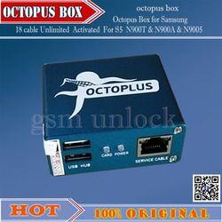 Gsmjustoncct 100% original Octopus Box para Samsung reparación IMEI desbloquear con 18 cables