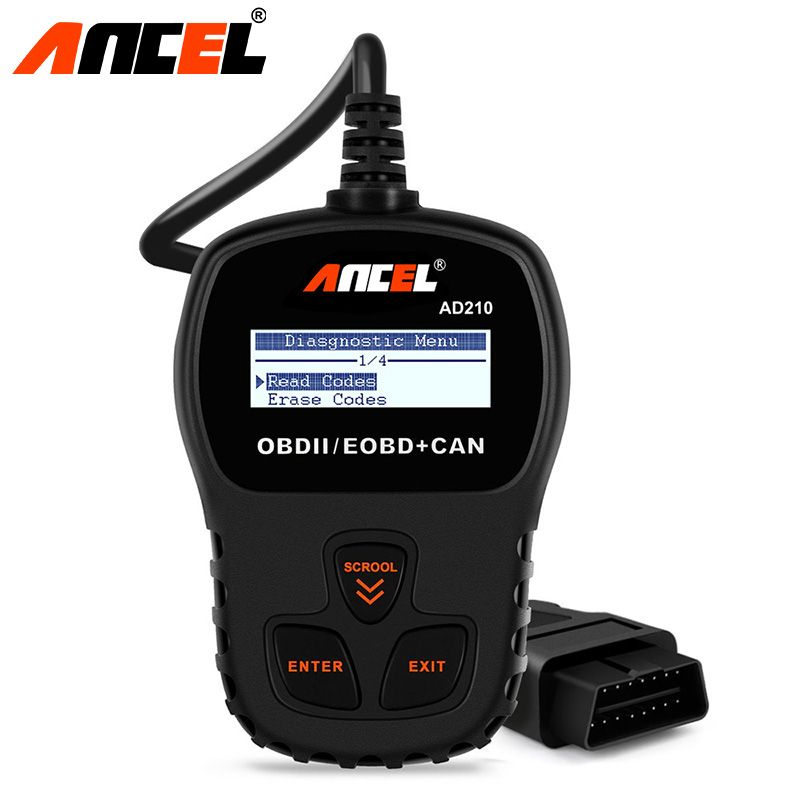 Ancel Original OBD2 Car Diagnostic Tool AD210 OBD 2 Code Reader Automotive Scanner More Accurate than ELM 327 Diagnostic Tool