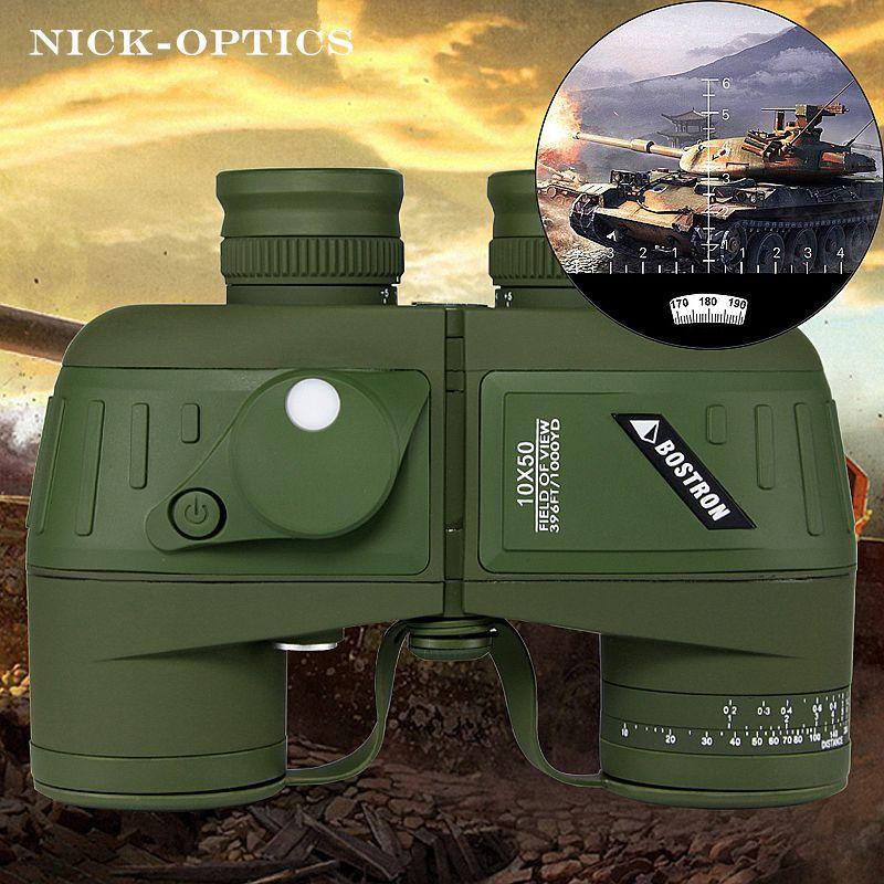 Germany Military binoculars Professional Waterproof Marine binocular High quality with Rangefinder and Compass Eyepiece focus
