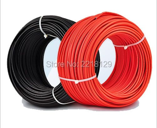 Boguang total 10m 4/6 mm2 red/black solar PV cable for solar panel module home station solar kits DIY system RV marine boat car