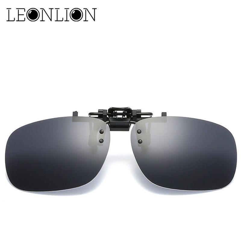 LeonLion 2017 Polarisierte Fahren Sonnenbrille Clip Männer Marke Designer Sonnenbrille HD Objektiv Nachtsicht Retro Outdoor Oculos De Sol