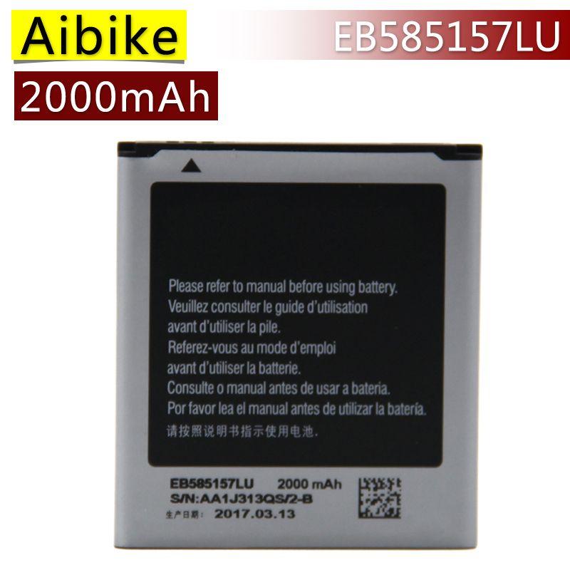 Aibike Nueva EB585157LU batería del teléfono móvil original Para Samsung Galaxy core 2 duos i8552 i869 i8558 i8550 Batería 2000 mAh Real