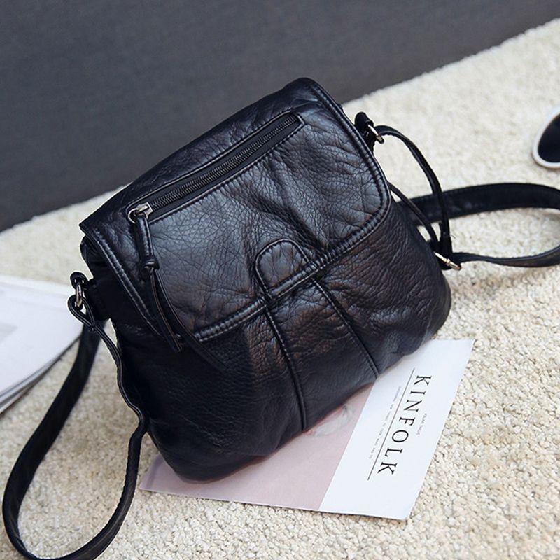 Vintage Small Crossbody Bags Women's Flap PU Leather Bag Handbag Sac a Main Femme Ladies Messenger Bag Long Strap Female Clutch