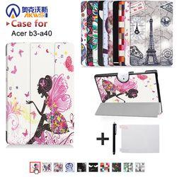 Cas Pour Acer Iconia Un 10 B3-A40 10.1 Tablet PC PU en cuir Folio Étui de protection Couverture Acer B3-A40 10 pouce Tablet PC cas