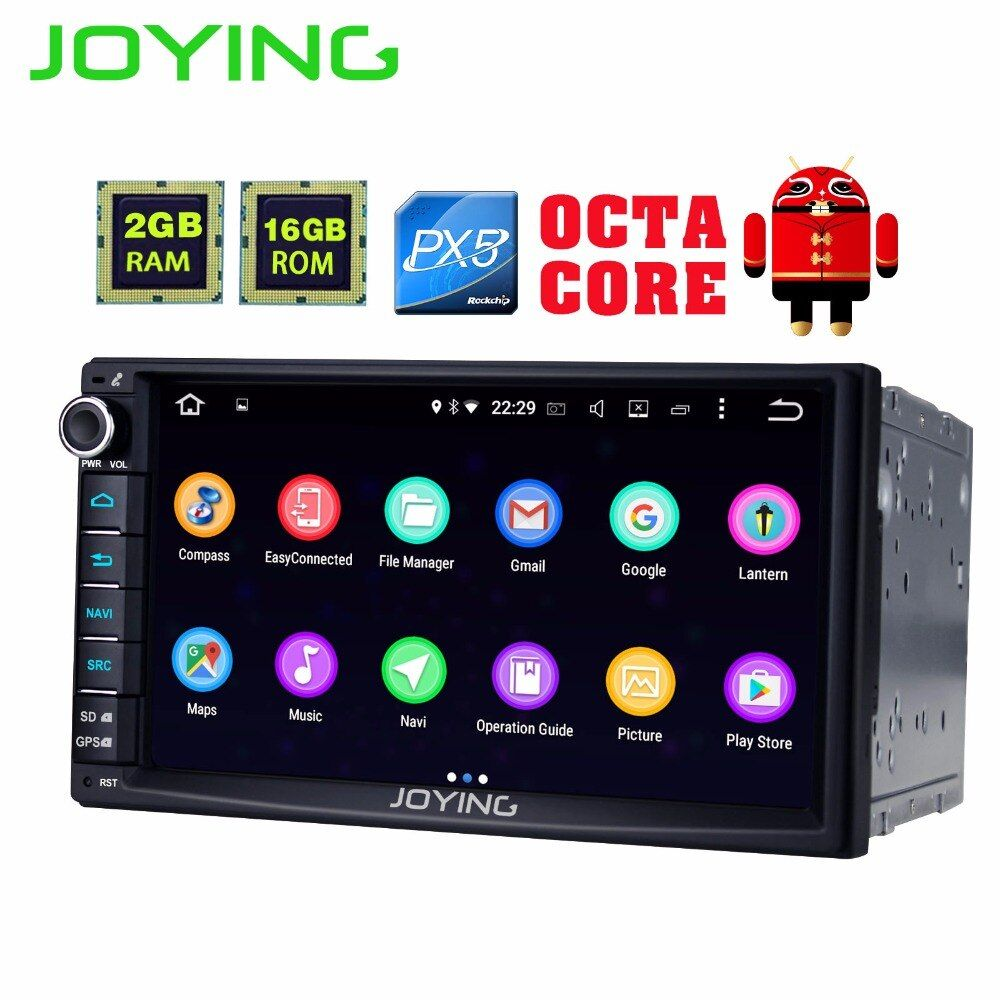Newest JOYING 2GB RAM 2Din HD 7'' Android 6.0 Universal Car Radio Audio 8 core android auto Stereo GPS Autoradio support Carplay