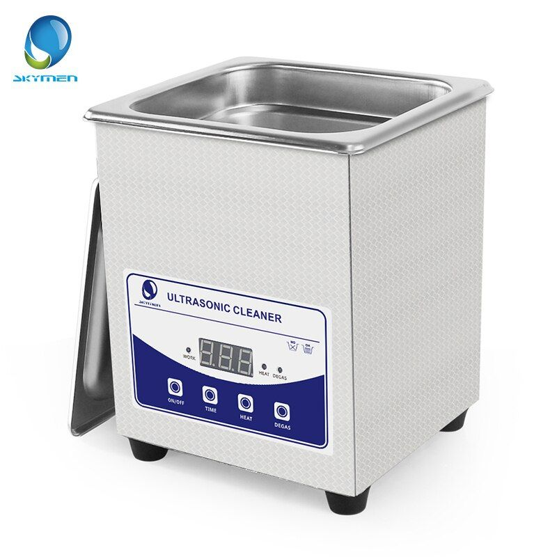 Skymen Digital Touch Ultrasonic Bath Cleaner with degas 2L 60W Manicure Watches Glasses Coins Nail Tool Part Timer