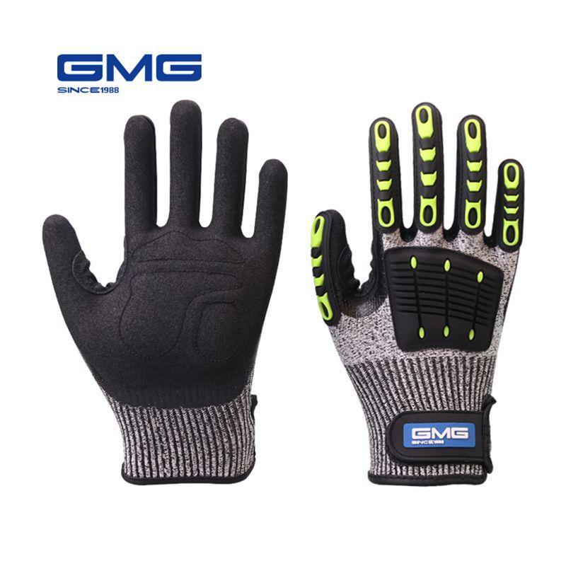 Gants résistants aux coupures huile Anti-choc Vibration GMG TPR gants de travail de sécurité Anti-coupure mécanique Anti-choc résistant aux chocs