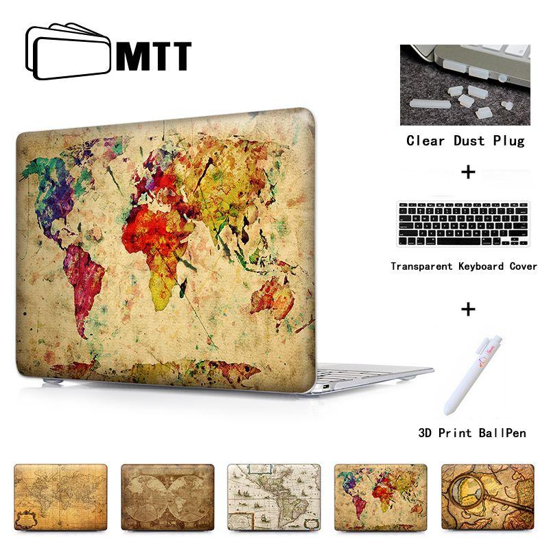 Carte du monde colorée étui de protection pour ordinateur portable étui rigide pour Macbook Air Pro 13 étui Pro 13 15 Retina housse pour ordinateur portable coque de protection