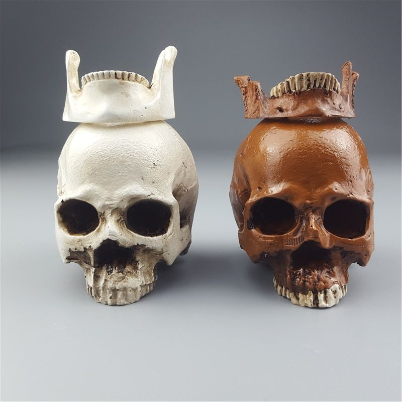 2018 Direct Selling Rushed Mrzoot Human Skull Resin Sculptures Replica Medical Model Halloween Home Decoration Decorative Craft