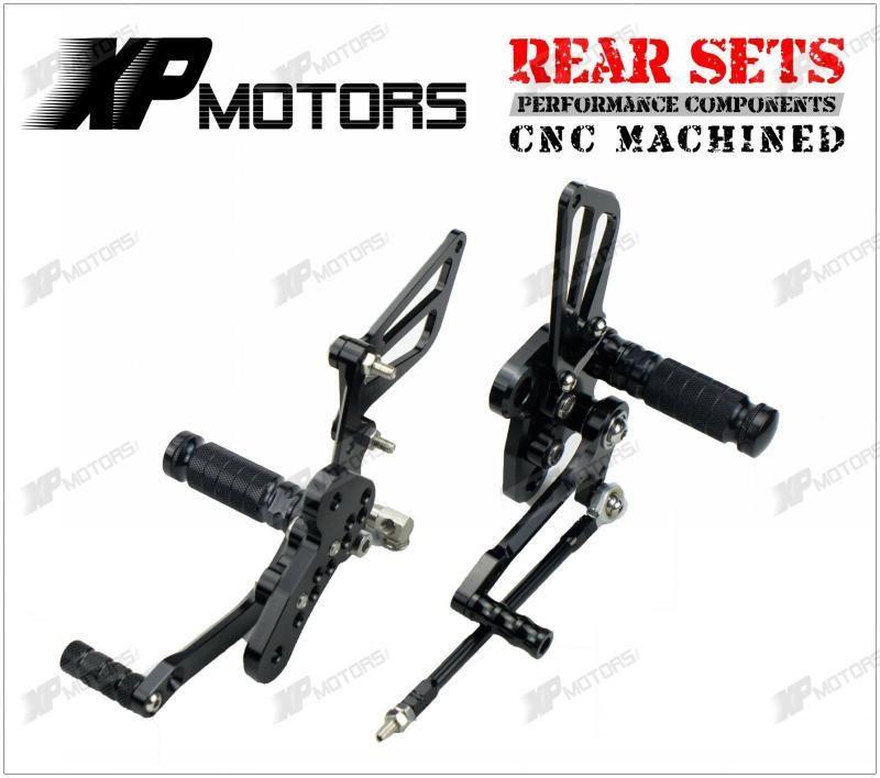 New Black Racing CNC Billet   Adjustable Rear Sets For Suzuki GSX1300R Hayabusa 2008 2009 2010 2011 2012 2013 2014 2015