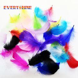 DIY plumes d'oie de Détail 24 pcs 7-10 cm 3-4 pouces plume d'oie plumes Vêtements accessoires IF52