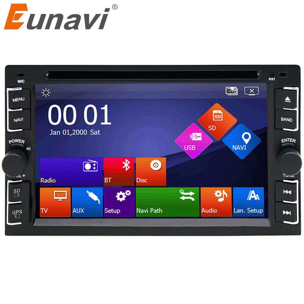 Eunavi Car DVD player GPS Glonass 2 din universal for X-TRAIL Qashqai x trail juke for nissan Stereo Radio Bluetooth USB/SD