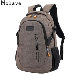 MOLAVE Ransel baru tas sekolah siswa kasual kanvas Travel Unisex laptop Desainer anti pencurian ransel tahan air Jan3