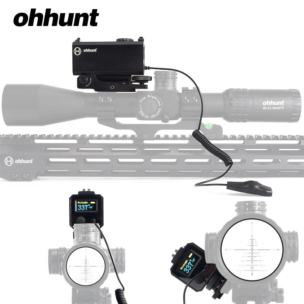 Ohhunt 5-700 Mt Mini Laser Entfernungsmesser Tactical Jagd Zielfernrohr Sight mit Picatinny Weaver Schiene Montieren Farbe OLED Display