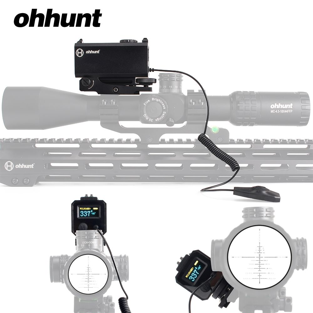 ohhunt 5-700M Mini Laser Rangefinders Tactical Hunting Rifle Scope Sight with Picatinny Weaver Rail Mount Color OLED Display