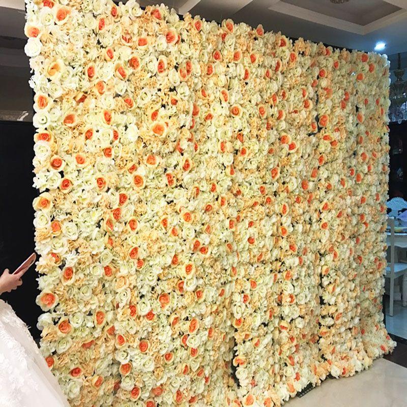 60x40 Cm fleur artificielle fond de mur accessoires de mariage fournitures décoration murale Arches soie fleur Rose pivoine fenêtre Studio
