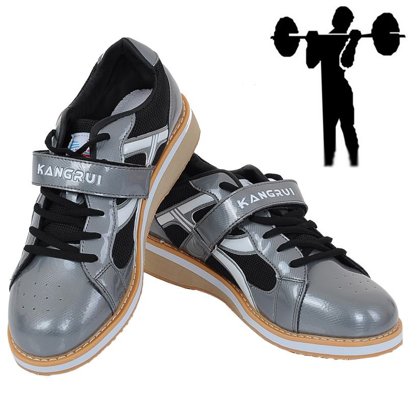 Power lifting  Professional Weight lifting Shoes for Squat Training Leather non-slip  with Rubber Sole fitness shoes