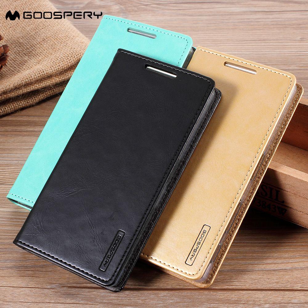 MERCURY GOOSPERY for Samsung Galaxy S9 S9+ S8 S8+ S7 S7 Edge J1 J3 J5 J7 A3 A5 A7 2016 Case Cover Blue Moon PU Leather Flip Capa
