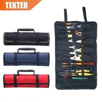 TEKTER Oxford RollingTool Bag 14 Pocket 600D Durable Waterproof Portable Pouch Electric Tools Handbag With Tool Belt G type