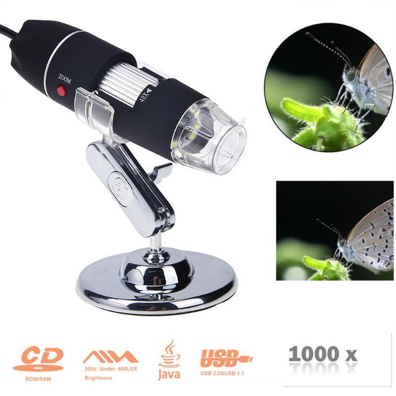 Portable USB Digital Electronic Microscope 8 LED Magnifier 1000X Video Camera Repair Tool USB Gadget