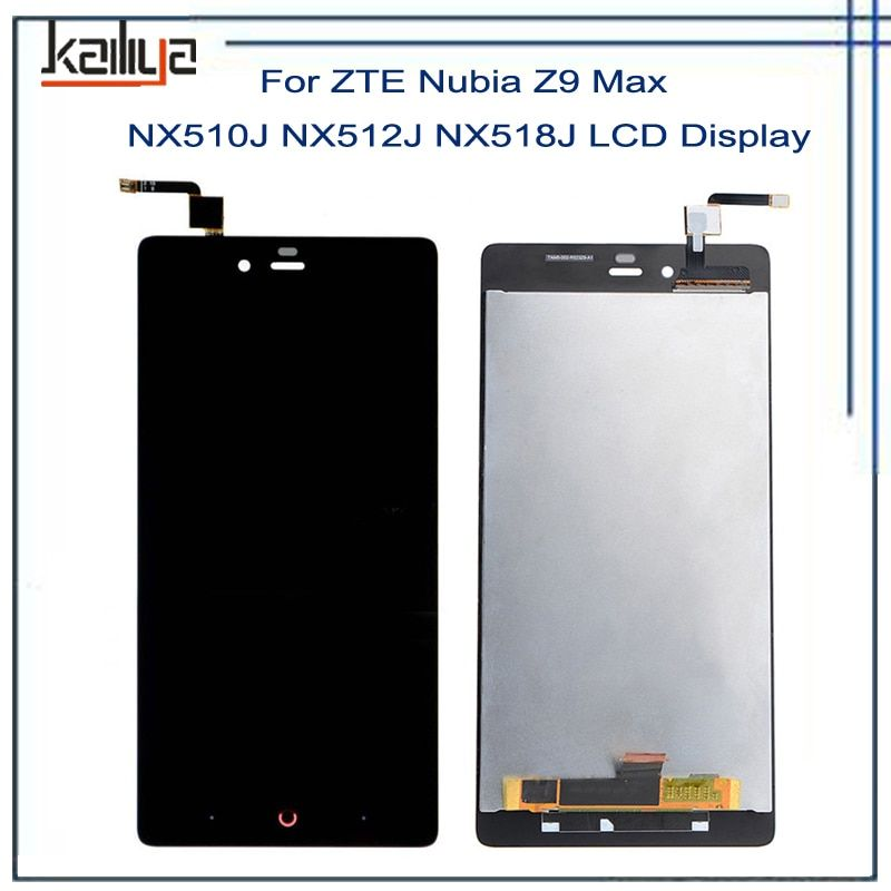 For ZTE <font><b>Nubia</b></font> Z9 Max NX510J NX512J NX518J LCD Display+ 5.5 Inch Black Touch Screen Digitizer Assembly Repairparts For ZTE Z9 MAX
