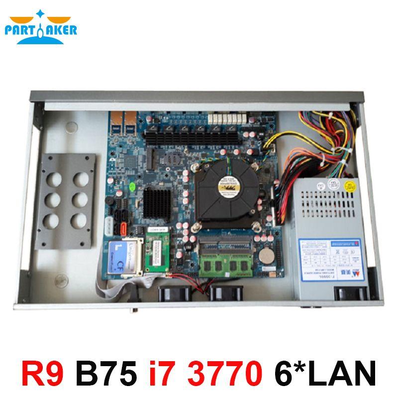 New Quad Core i7 3770 1U network Firewall router with 6 Ports 6*1000M 82583V Gigabit Nics 2GB Ram 8GB SSD