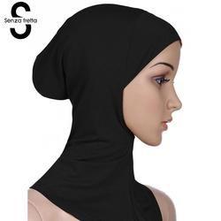 Senza Fretta Coton Musulman Hijab Cap Islamique Tête Usure Chapeau femmes Foulard Coton Sous Écharpe Hijab Couverture Head Wrap L10534