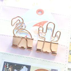 Domikee original planta creativa diseño metal oficina clips set papelería, estudiante lindo carpeta clip para el cuaderno, 2 unids