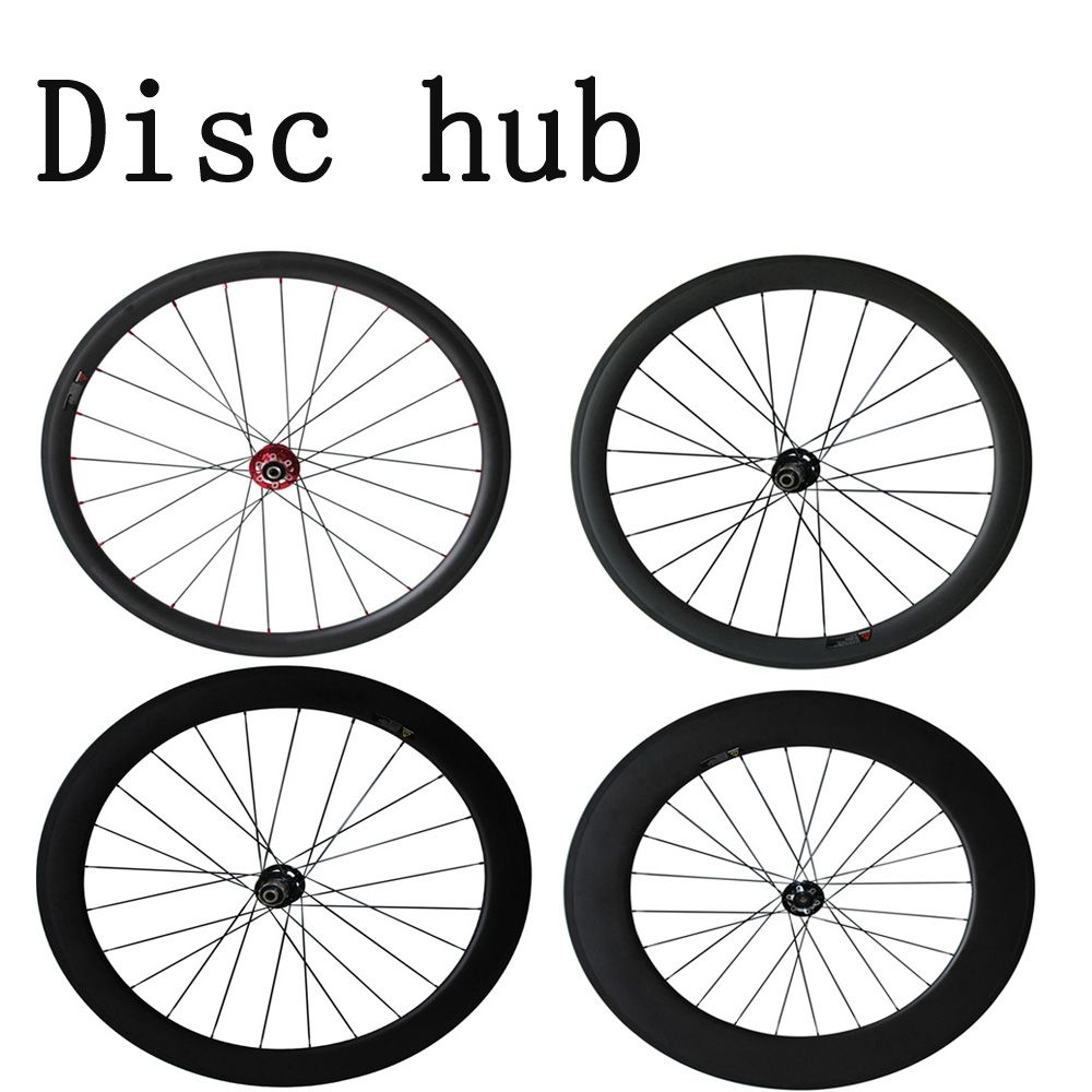 Disc brake wheelsets 700C carbon wheeles 38mm/50mm/60mm/88mm Clincher/Tubuar/Tubeless cyclocross wheelset 12*100 12*142mm