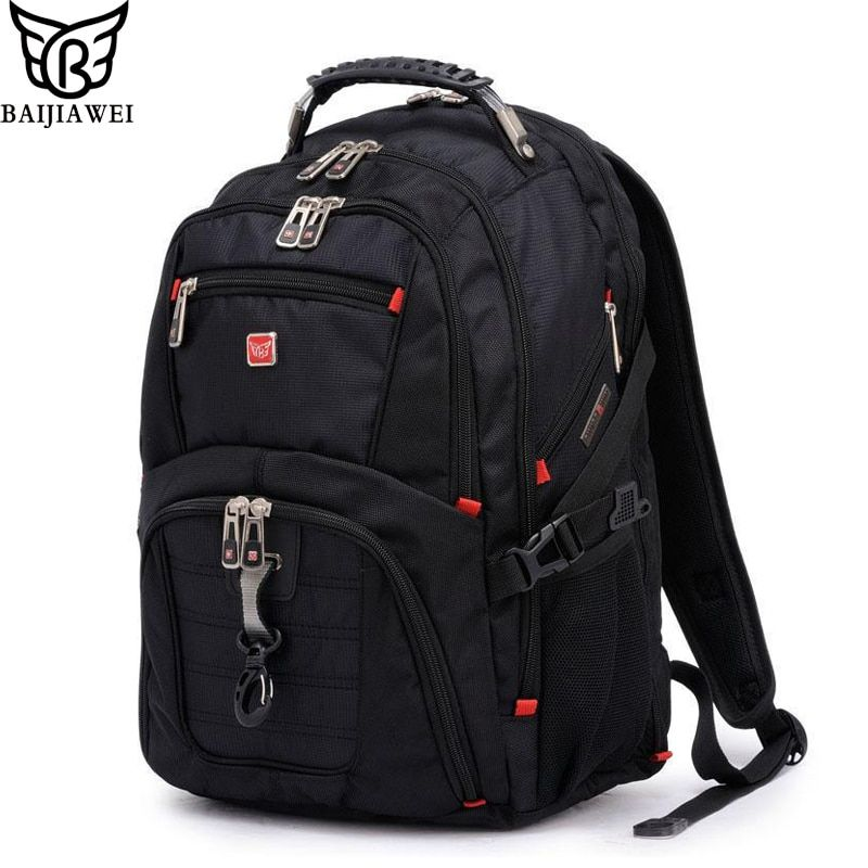 BAIJIAWEI Men and Women Laptop Backpack Mochila Masculina 15 Inch Backpacks Luggage & Men's Travel Bags Male Large Capacity Bag