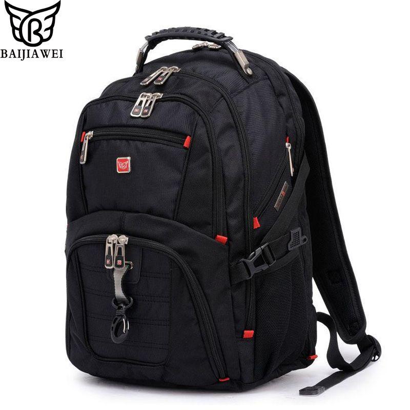 BAIJIAWEI Men and Women Laptop Backpack Mochila Masculina 15 Inch Backpacks Luggage & Men's Travel Bags Male Large Capacity Bag