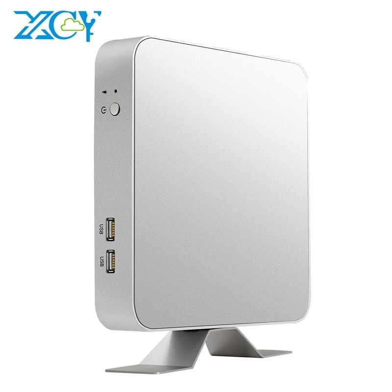 XCY X26 Mini PC Intel Core i7 7500U i5 7200U i3 7100U Windows 10 Linux 4 K UHD HTPC HDMI VGA 300 M WiFi Gigabit Ethernet 6 * USB