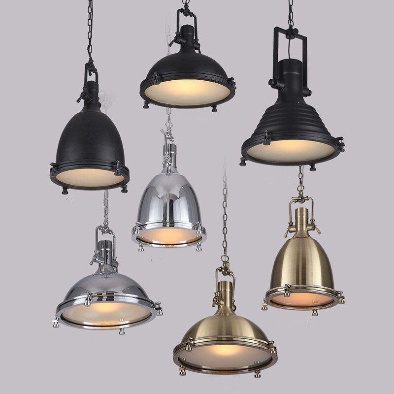 Loft Pendant Light Industrial Style Metal Pendant lights /Restaurant Light Retro Lamparas Colgantes Black and Amer Luminaire