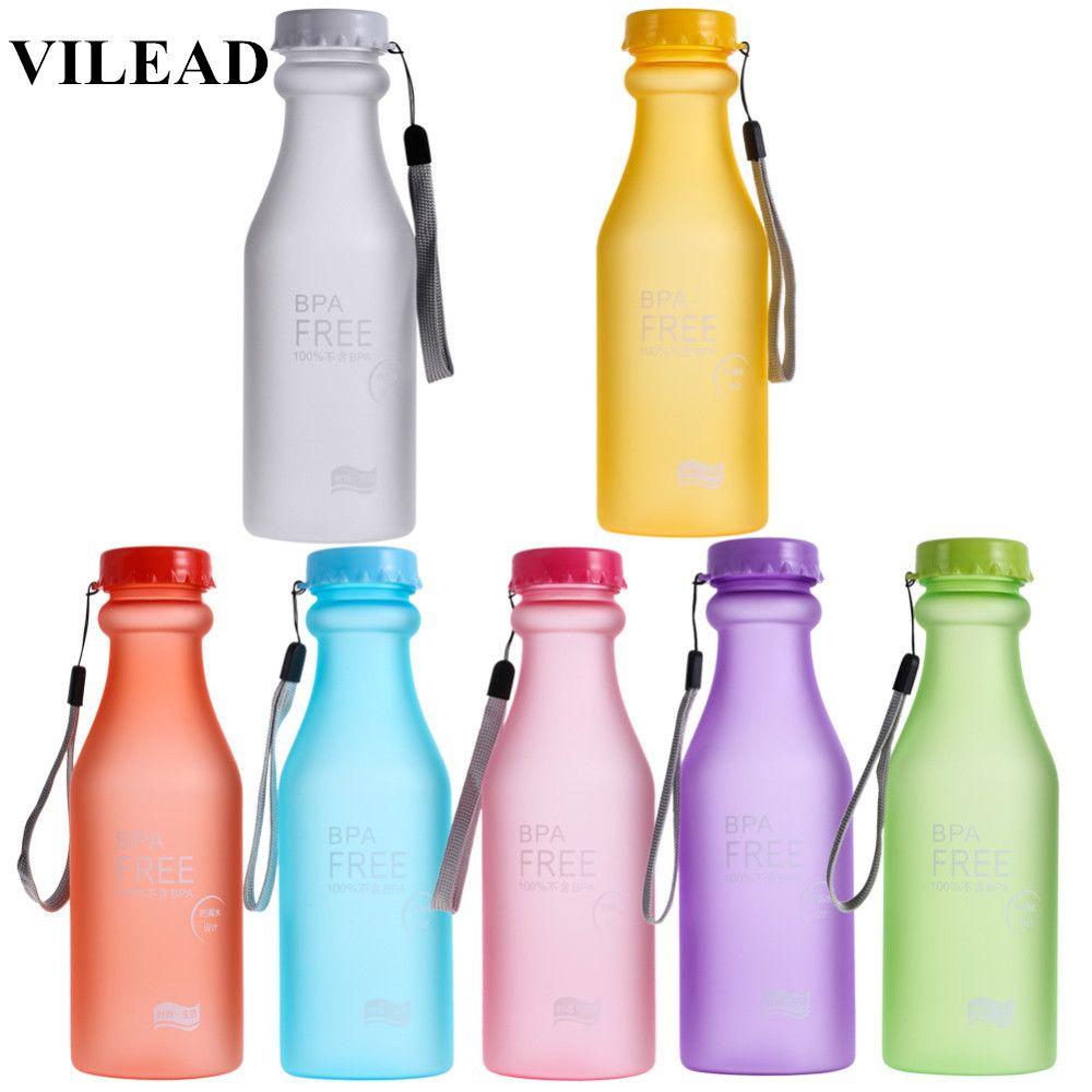VILEAD 550 ML 7 couleurs Portable En Plastique unbreakableZ Bouteille D'eau BPA LIVRAISON Fuite-preuve Vélo camping out door Sport bouteille