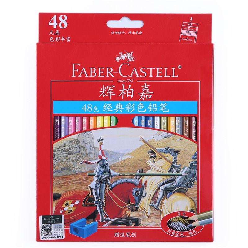 Faber Castell crayon de couleur crayons Pastel huileux 12/24/36 couleurs ensemble château série Art fournitures crayons de couleur étudiant papeterie