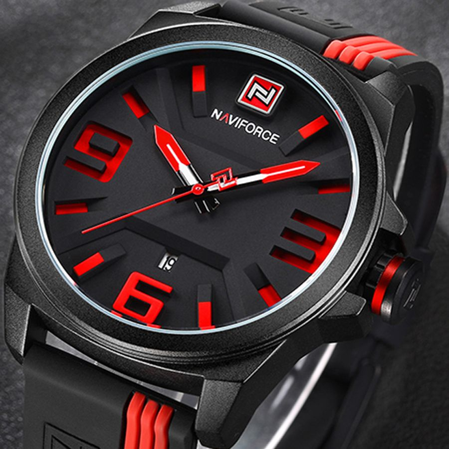 NAVIFORCE New Watch Men Sport Quartz Watches Colorful Fashion and Casual Watches Clearly See Analog <font><b>Male</b></font> Clock Relogio Masculino