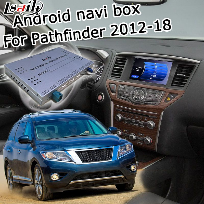 Lsailt Android GPS navigation box for Nissan Pathfinder 2012-2017 high end, with G QX50 QX60 Q70 QX80 etc youtube yandex support