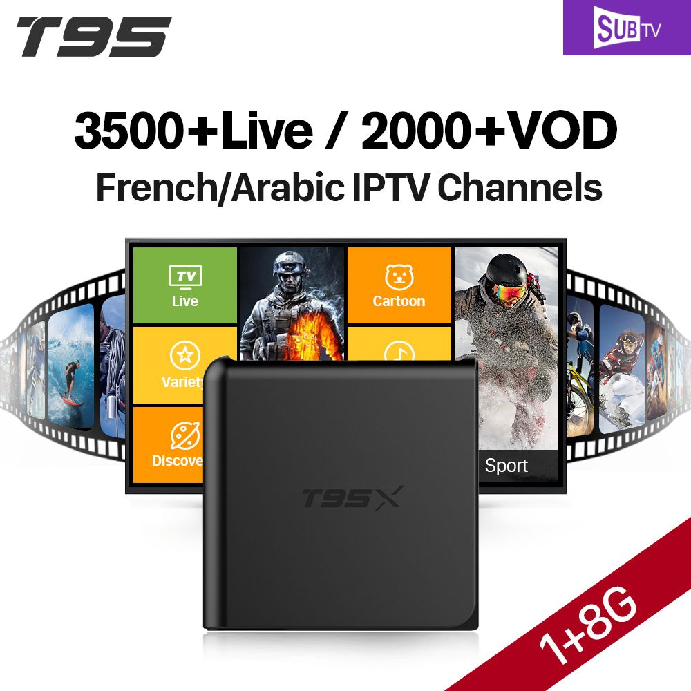 IPTV Europe Arabic T95X Smart TV Android 6.0 IPTV Box 1 Year IUDTV QHDTV Abonnement French Italy Portugal IPTV Channels Top Box