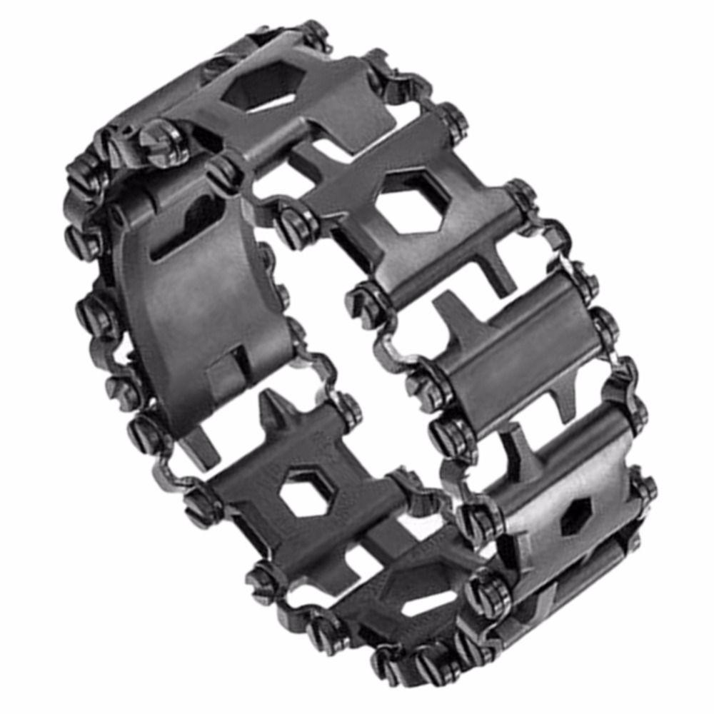29 in 1 Tread Multifunktionale Armbänder 304 Edelstahl Walker Tragbare Werkzeuge Punk Outdoor Schraubendreher Armbänder Opener