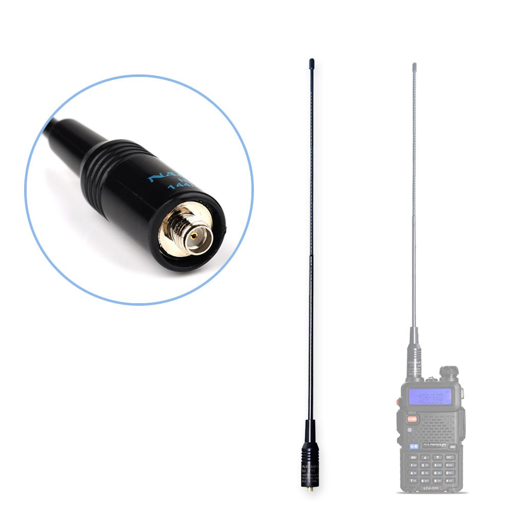 NAGOYA NA-771 Dual Band Walkie Talkie Baofeng Antenna VHF/UHF SMA-Female for Handheld Radio Baofeng UV-5R UV-82 BF-888S