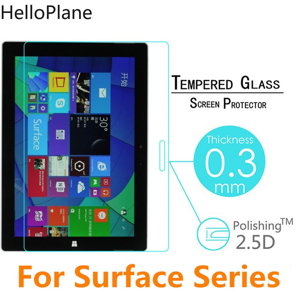 Tempered Glass Screen Protector For Microsoft Surface Pro 5 4 3 2 Pro4 Pro3 Pro2 RT RT2 RT3 Surface3 TAB Tablet Protective Film